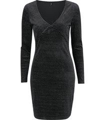 klänning onllovable l/s glitter bodycon dress