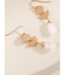 keeley semi precious drop earrings - pale pink