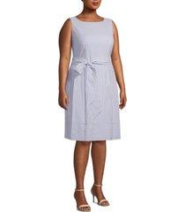 anne klein plus size seersucker a-line dress