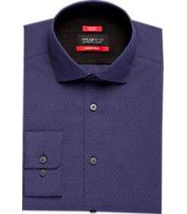 awearness kenneth cole awear-tech purple slim fit dress shirt