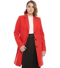 abrigo vero moda cindy rojo - calce regular