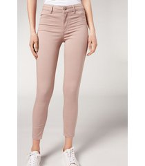calzedonia push-up and soft touch jeans woman pink size xs