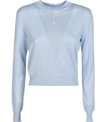 miu miu crop ribbed sweater
