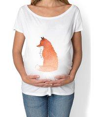 koszulka ciążowa. lis. i love forest