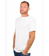 alan red t-shirt derby extra long white (two pack)