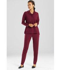 n-vious pullover top, women's, grey, size l, n natori