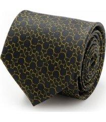 disney mickey's 90th anniversary compact silhouette men's tie