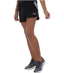 shorts adidas d2m br knit - feminino - preto/branco