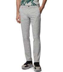 boss men's schino-slim silver pants