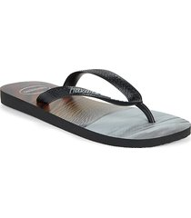 havaianas hype rubber flip flops - navy - size 43/44 (10/11)