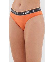 calcinha calvin klein underwear biquíni logo laranja