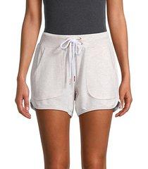 drawstring cotton-blend shorts
