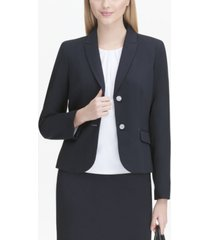 calvin klein flap-pocket two-button blazer