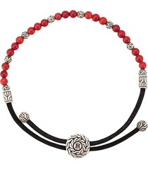 john hardy classic chain round beads bracelet - red