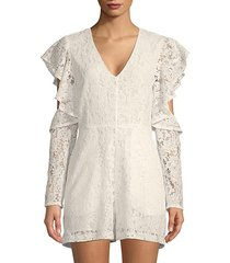 cut-out lace romper