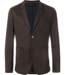ami unlined soft two buttons jacket - brown