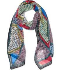 calvin klein patchwork chiffon scarf