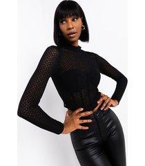 akira off the runway black mesh corset top