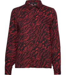 animal ls shirt blus långärmad röd soft rebels