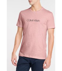 camiseta masculina slim flamê rosa claro calvin klein - pp