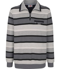sweatshirt roger kent grijs::antraciet