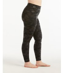spanx plus size camo faux-leather leggings