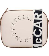 stella mccartney shoulder bag in white faux leather