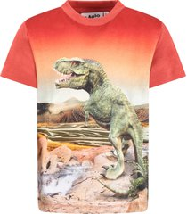 molo orange road t-shirt for boy with dinosaurs