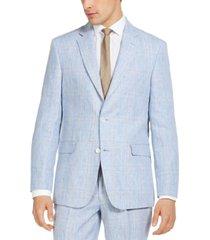 tommy hilfiger men's modern fit linen suit separate jackets