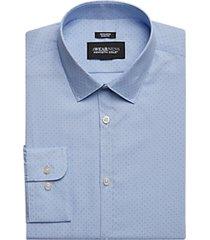 awearness kenneth cole light blue dot print slim fit dress shirt
