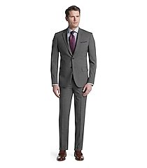 travel tech slim fit mini check men's suit separate jacket - big & tall by jos. a. bank