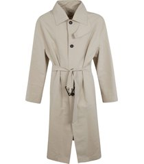 bottega veneta belted long trench