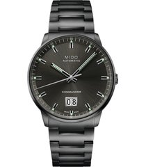mido commander big date automatic bracelet watch, 42mm