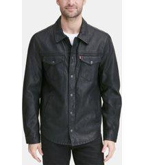 levi's men's faux leather shirt jacket