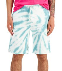 guess men's tie-dyed woven shorts