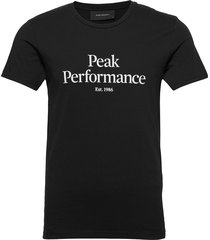 m original tee the alpine t-shirts short-sleeved svart peak performance