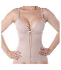 cinta modeladora - camisete com bojo e zíper com compressão - vi lingerie