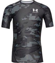 ua hg isochill comp print ss t-shirts short-sleeved svart under armour