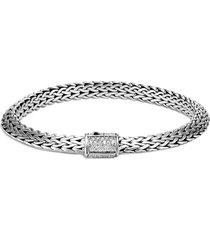 'classic chain tiga' diamond silver medium bracelet