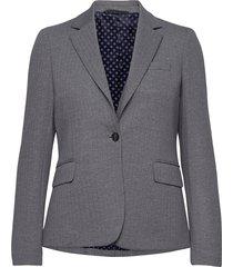d1. herringb jersey slim blazer blazers business blazers grå gant