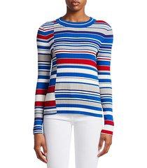 mason mixed stripes knit sweater