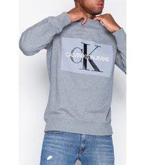 calvin klein jeans basic monogram logo sweat tröjor grey