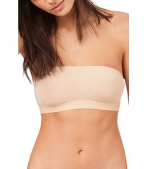women's lively the bandeau strapless bra, size medium - beige