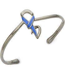 ruthenium-plated cuff bracelet