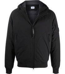 c.p. company black stretch woven construction jacket