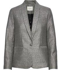 blazer blazers casual blazers zilver sofie schnoor