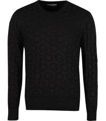 dolce & gabbana jacquard crew-neck sweater