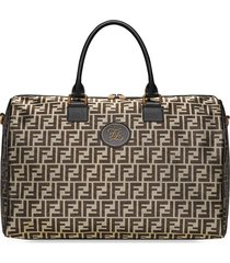 fendi ff motif travel bag - gold