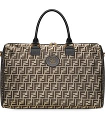 fendi large ff print travel tote - gold