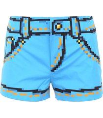 moschino capsule printed shorts
